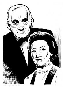 Masters and Johnson. Ilustración realizada por el dibujante  Adrián Bago