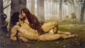 El primer beso de Adan y Eva. 1981, Salvador Viniegra y Lasso de la Vega